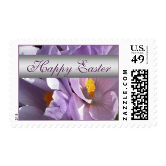 Easter Postage Stamps - Purple Crocus Post