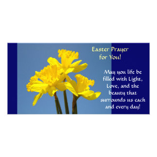 Easter Prayer Cards Daffodils Flowers Spring Photo Card