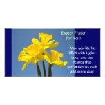 Easter Prayer Cards Daffodils Flowers Spring Custom Photo Card