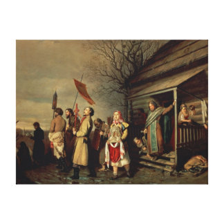 Easter Procession, 1861 Canvas Print