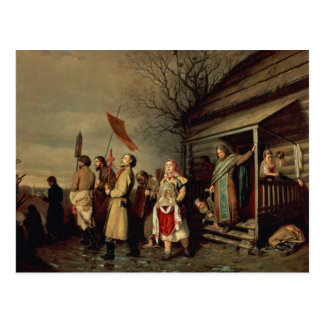Easter Procession, 1861 Postcard