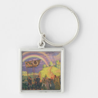 Easter Procession, 1915 Silver-Colored Square Keychain
