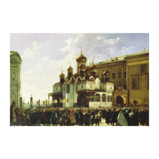 Easter procession at Maria Annunciation Canvas Print