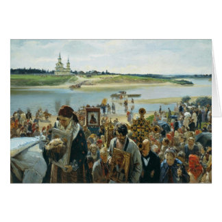 Easter Procession By Prjanischnikow Illarion Micha Card