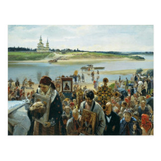 Easter Procession By Prjanischnikow Illarion Micha Postcard