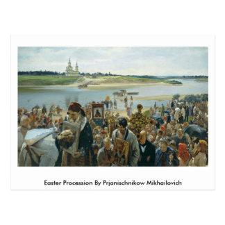 Easter Procession By Prjanischnikow Mikhailovich Postcards