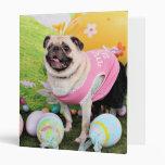 Easter - Pug -Hannah 3 Ring Binders