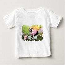 Easter - Pug -Hannah Baby T-Shirt