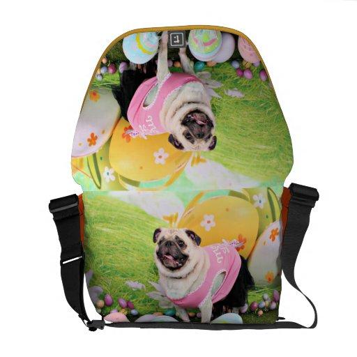 Easter - Pug -Hannah Courier Bag