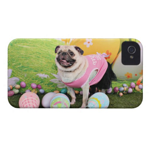 Easter - Pug -Hannah iPhone 4 Cases