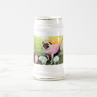 Easter - Pug -Hannah 18 Oz Beer Stein
