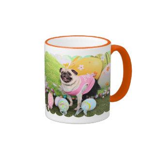 Easter - Pug -Hannah Ringer Coffee Mug