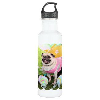 Easter - Pug -Hannah 24oz Water Bottle