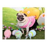Easter - Pug -Hannah Postcard
