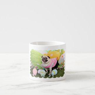 Easter - Pug -Hannah 6 Oz Ceramic Espresso Cup