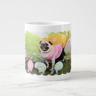 Easter - Pug -Hannah 20 Oz Large Ceramic Coffee Mug