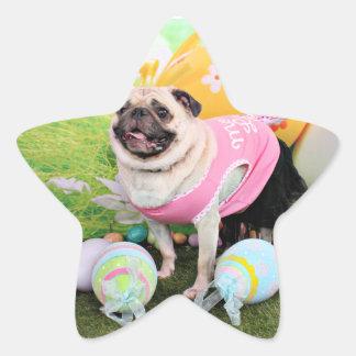 Easter - Pug -Hannah Star Sticker
