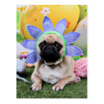 Easter - Pug - Louie Postcard