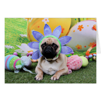 Easter - Pug - Louie Stationery Note Card