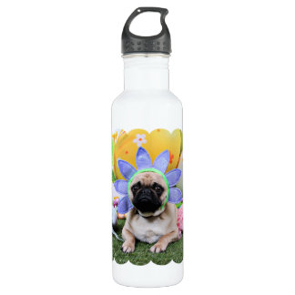 Easter - Pug - Louie Water Bottle