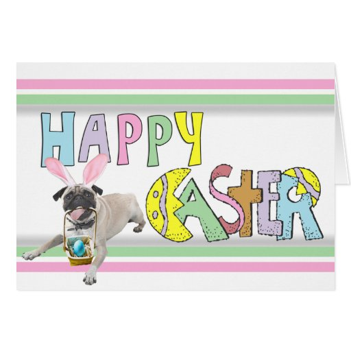 Easter Pug Stationery Note Card