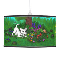 Easter - Puppy Capo and Butterfly Ceiling Lamp