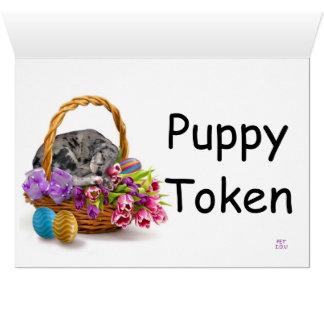 Easter Puppy Token Card