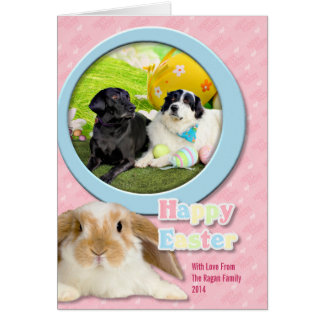 Easter - Pyrenees X - Tristyn CiCi - Labrador Greeting Card