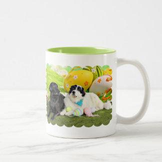 Easter - Pyrenees X - Tristyn CiCi - Labrador Two-Tone Coffee Mug