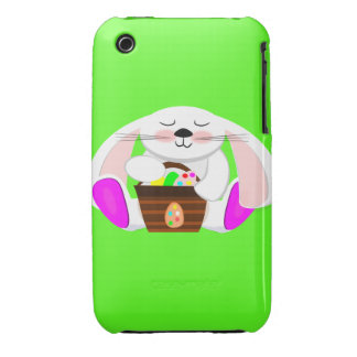 Easter Rabbit And A Basket of Eggs Case-Mate iPhone 3 Cases