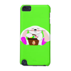 Easter Rabbit And A Basket Of Eggs Ipod Touch (5th Generation) Case at Zazzle