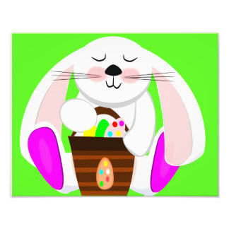Easter Rabbit And A Basket of Eggs Photograph
