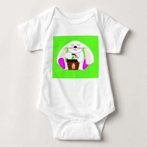 Easter Rabbit And A Basket of Eggs T-shirts
