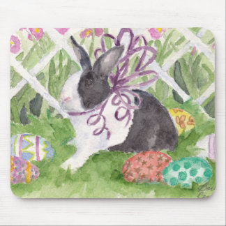 Easter Rabbit and Eggs Mouse Pad