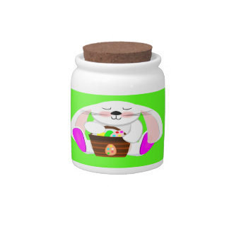 Easter Rabbit Candy Jars