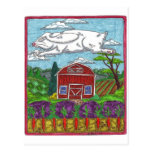 Easter Rabbit Farm Postcards