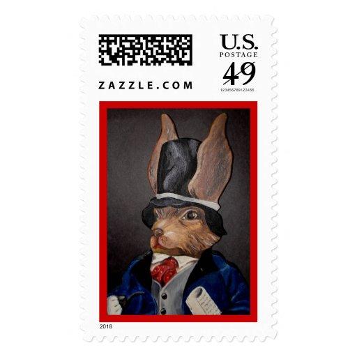 Easter Rabbit Gentleman Stamps