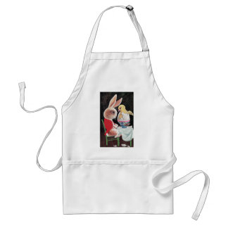 Easter Rabbit Gets Chick Surprise Adult Apron