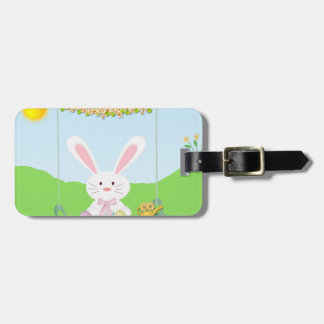 Easter rabbit luggage tag