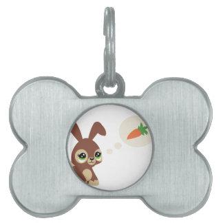 easter rabbit pet name tag