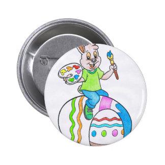 Easter Rabbit Pinback Button