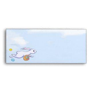 Easter Rabbit Run #10 Letterhead Envelope envelope