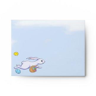 Easter Rabbit Run A2 Note Card Envelope envelope