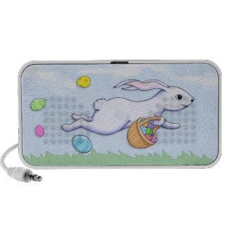 Easter Rabbit Run Doodle Speakers