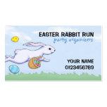 Easter Rabbit Run Party Organizer Business Card