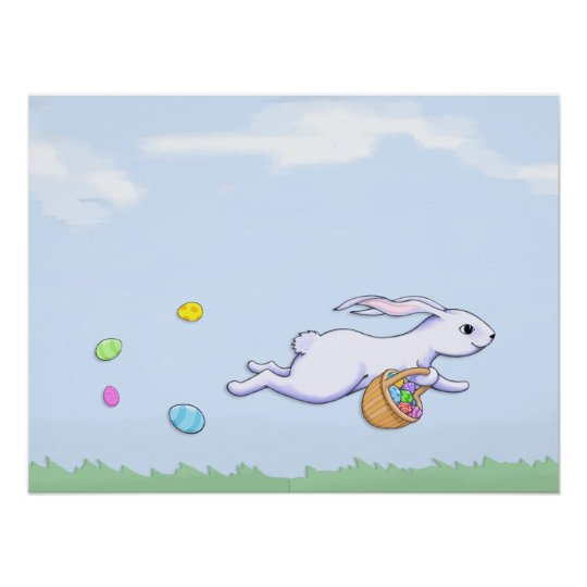 Easter Rabbit Run Poster