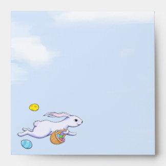 Easter Rabbit Run Square Invitation Envelope