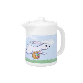 Easter Rabbit Run Teapot