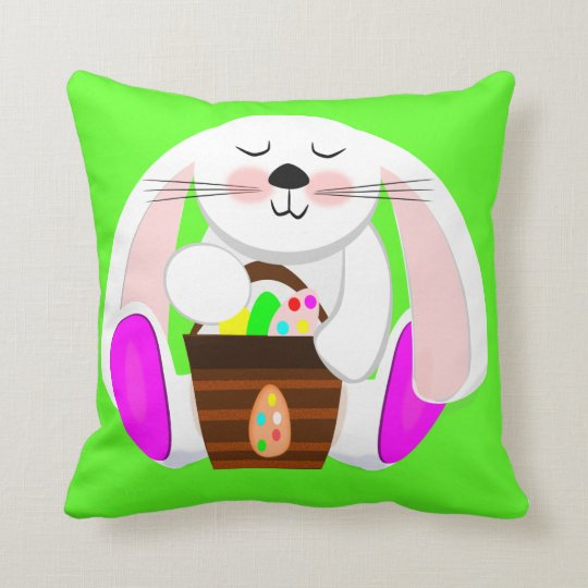 Easter Rabbit Throw Pillow