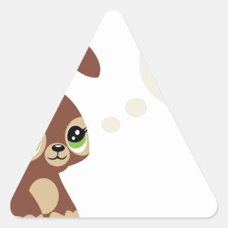 easter rabbit triangle sticker